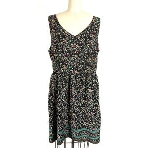 One Clorthing A-Line Floral Dress Size L